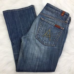 "7  For All Mankind ""A"" Pocket Cropped Jeans"